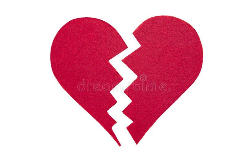 在白色背景隔绝的微小的红色心脏标志 免版税图库摄影