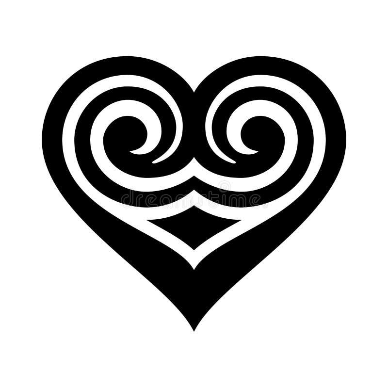 在白色背景隔绝的心脏象 标志设计 ( 皇族释放例证
