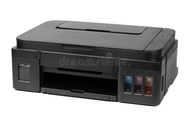 在白色背景隔绝的打印机 库存照片