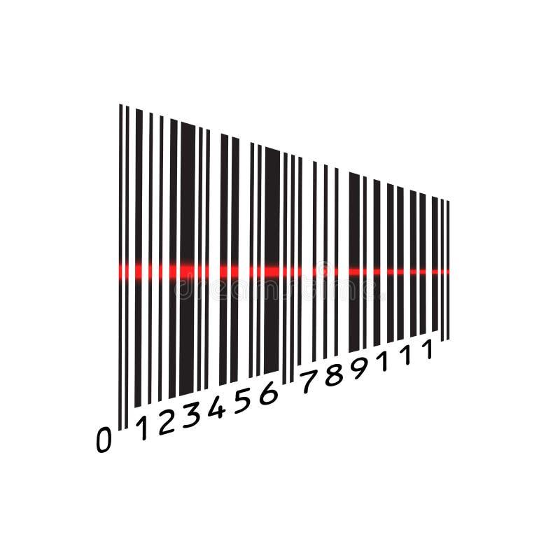 在白色背景隔绝的扫描的等量条形码 也corel凹道例证向量 皇族释放例证