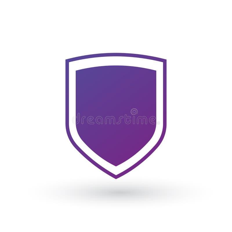 在白色背景隔绝的抽象安全象例证 盾象 图标锁定集合向量万维网 皇族释放例证