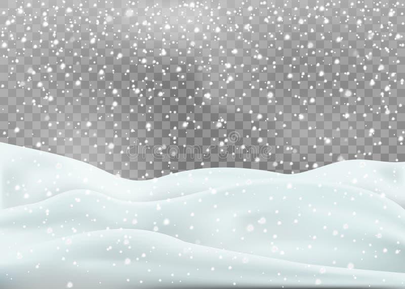在白色背景隔绝的斯诺伊风景 也corel凹道例证向量 向量例证