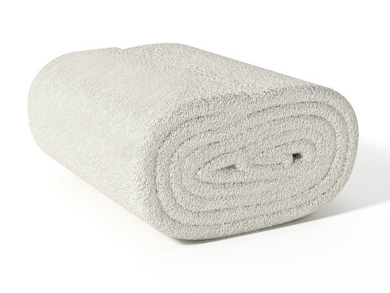 在白色背景隔绝的新鲜,清洁毛巾 3d例证 库存图片