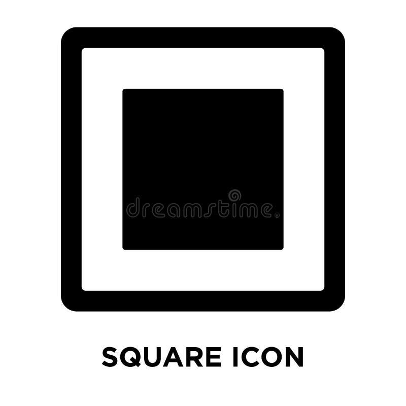 在白色背景隔绝的方形的象传染媒介,商标概念  库存例证