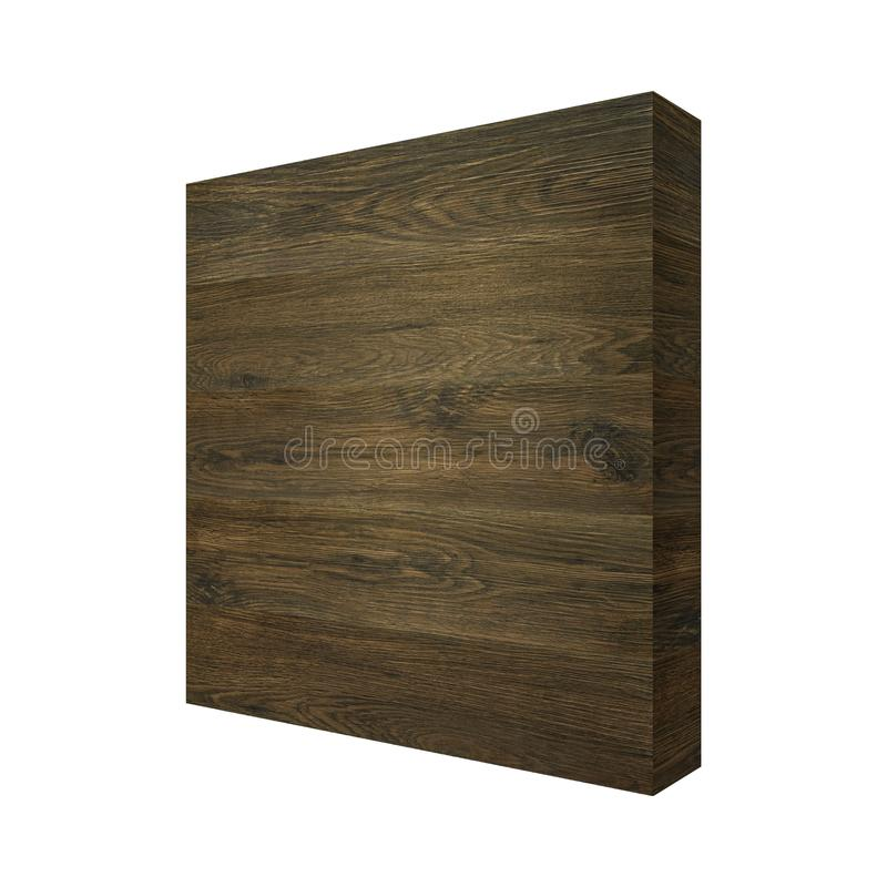 在白色背景隔绝的木墙壁透视 室内设计的木委员会 裁减路线 免版税库存图片