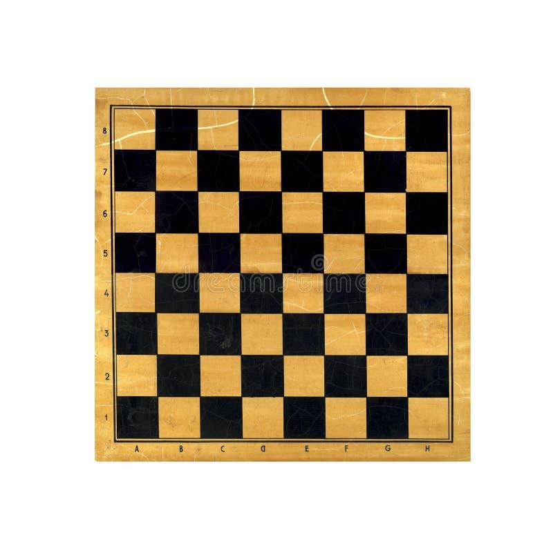 在白色背景隔绝的木棋盘 免版税图库摄影
