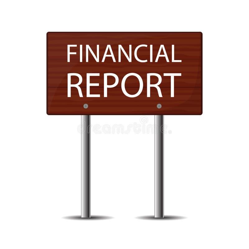 在白色背景隔绝的木路牌 会计,税,审计,演算,数据分析,报告概念 向量例证