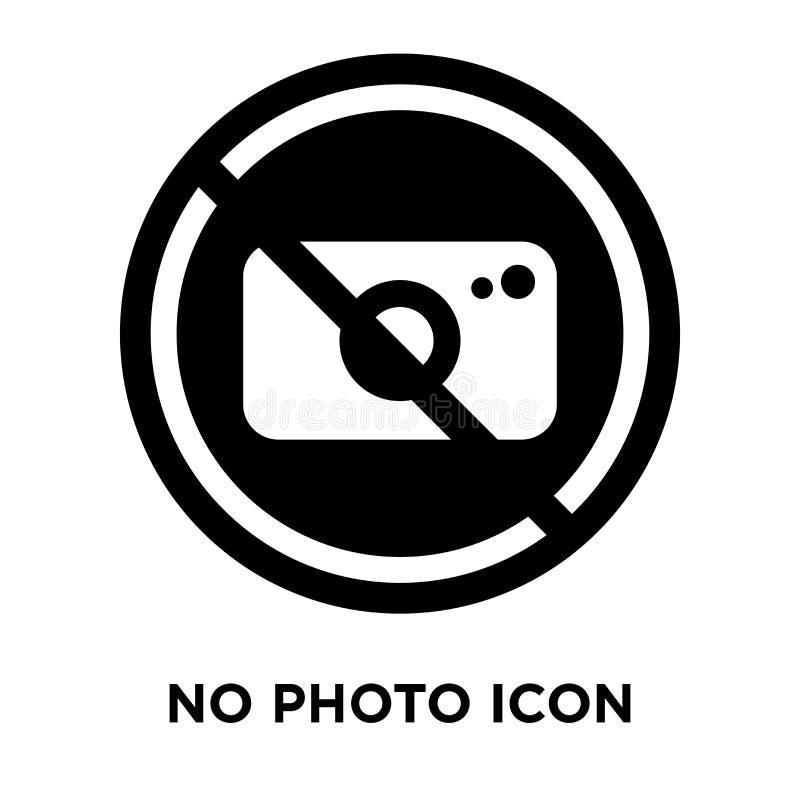 在白色背景隔绝的没有照片象传染媒介,商标概念 库存例证