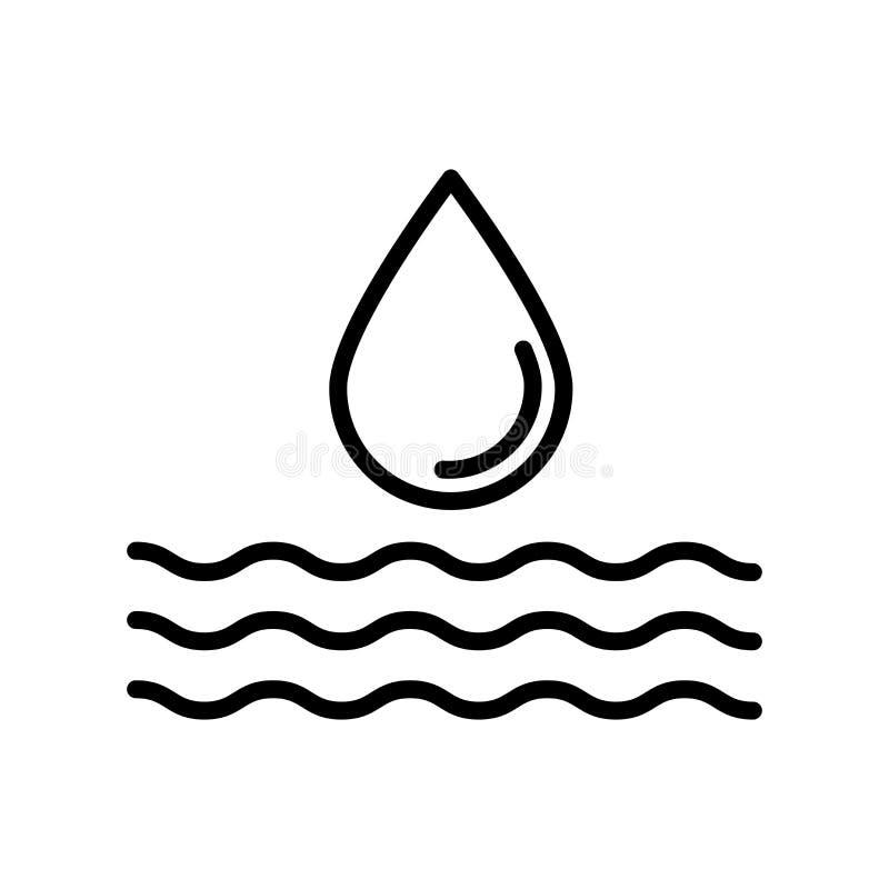 在白色背景隔绝的浇灌的象传染媒介,浇灌的标志 向量例证