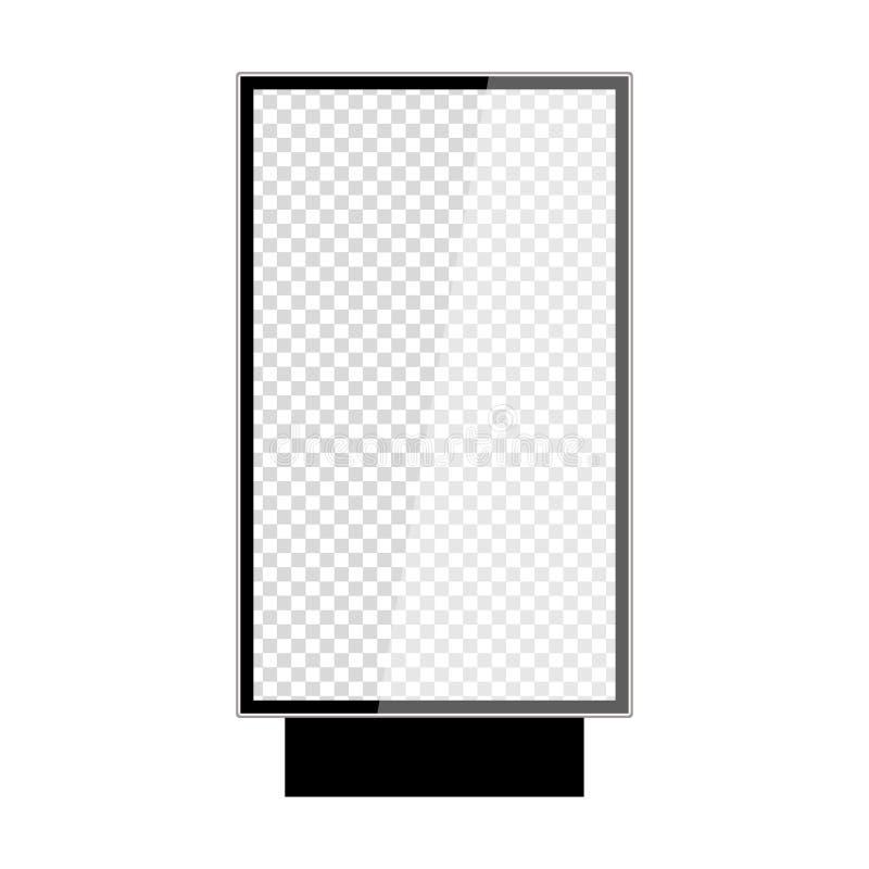 在白色背景隔绝的现实室外lightbox 皇族释放例证