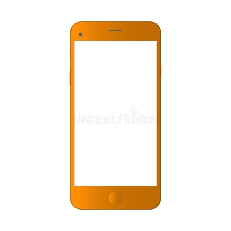 在白色背景隔绝的现实渔郎智能手机 智能手机现实传染媒介iphon例证 手机大模型与 皇族释放例证