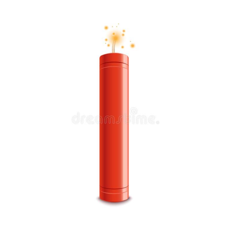 在白色背景隔绝的现实3d红火一刹那传染媒介例证 向量例证