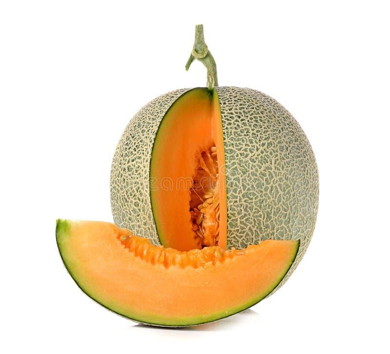 在白色背景隔绝的甜瓜瓜 免版税库存图片