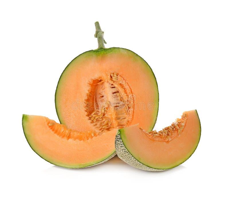 在白色背景隔绝的甜瓜瓜 图库摄影
