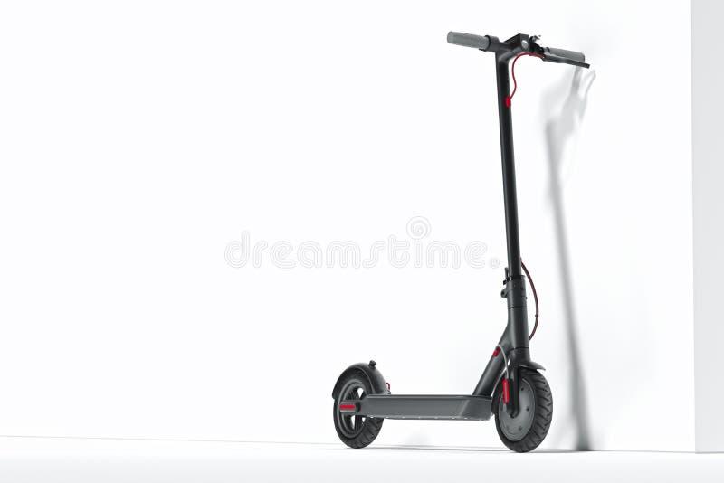 在白色背景隔绝的电滑行车 Eco运输 3d翻译 向量例证