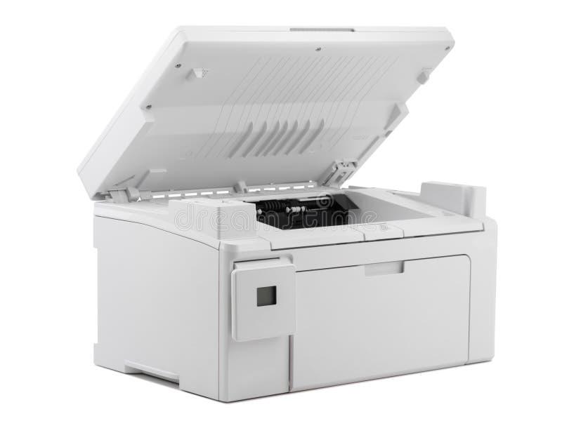 在白色背景隔绝的白色数字打印机 图库摄影