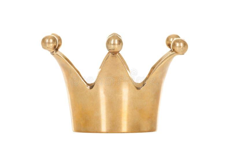 在白色背景隔绝的皇家金黄冠 免版税库存照片