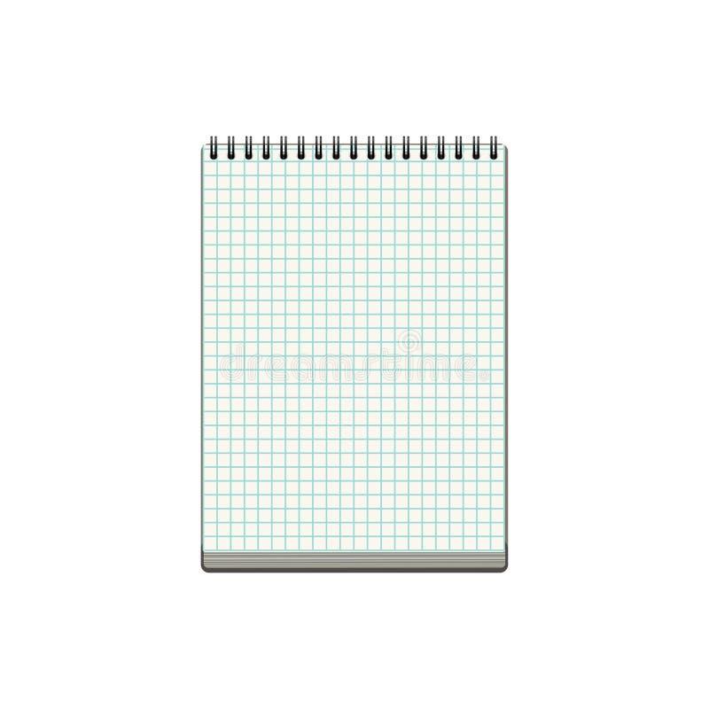 在白色背景隔绝的空白的现实笔记本 免版税库存图片