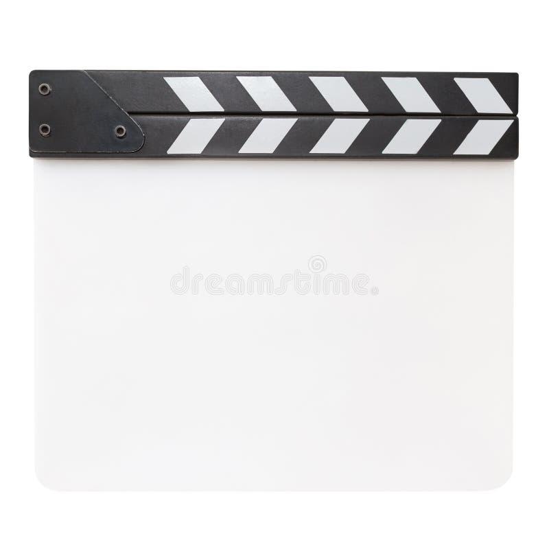 在白色背景隔绝的空白的白色拍板 免版税库存图片