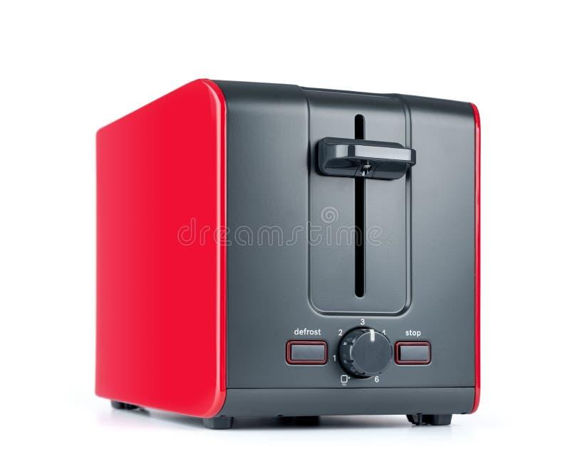在白色背景隔绝的红色多士炉 文件包含一条道路对隔离 向量例证