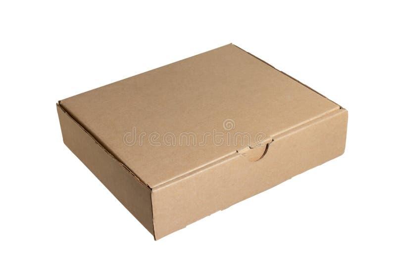 在白色背景隔绝的纸板箱 交付,移动,包裹和礼物概念 库存图片