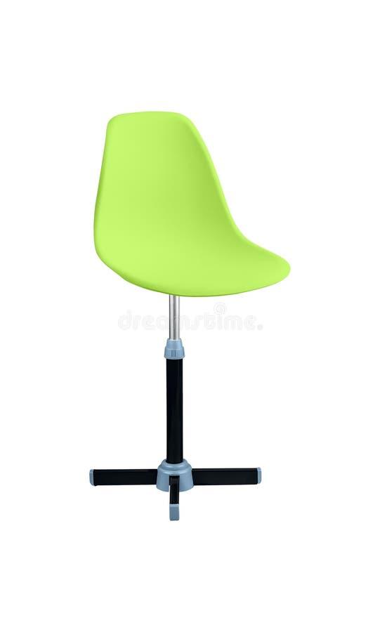 在白色背景隔绝的绿色椅子 库存图片