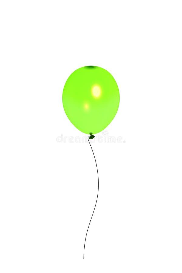 在白色背景隔绝的绿色透明气球 明信片,小册子,祝贺,假日设计的元素, 皇族释放例证