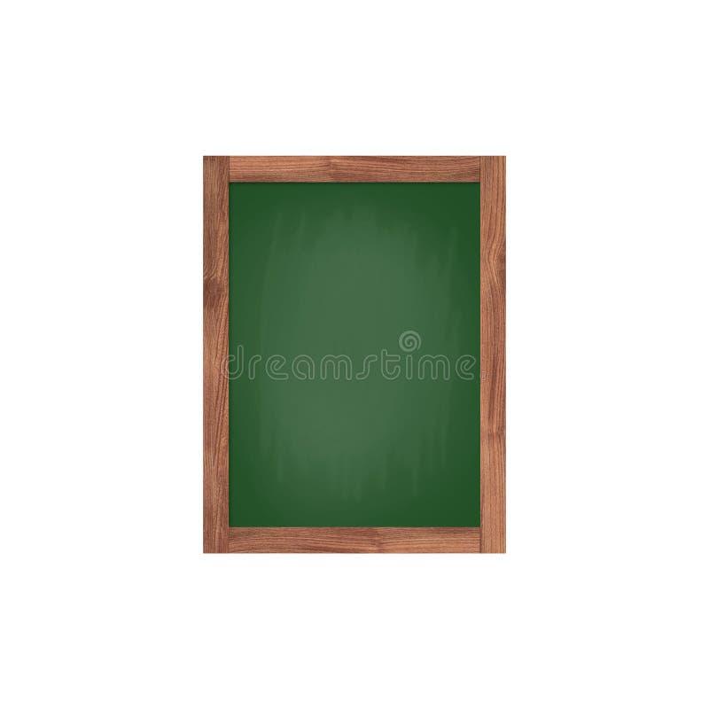 在白色背景隔绝的绿色黑板 图库摄影