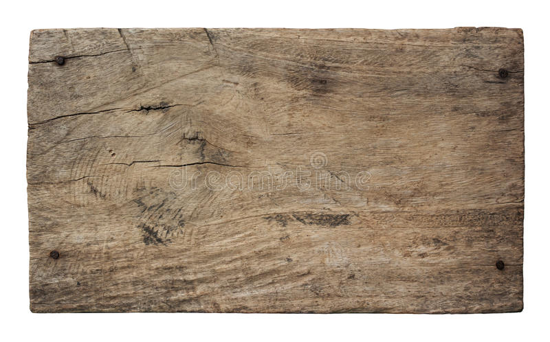 在白色背景隔绝的老木头板条 图库摄影