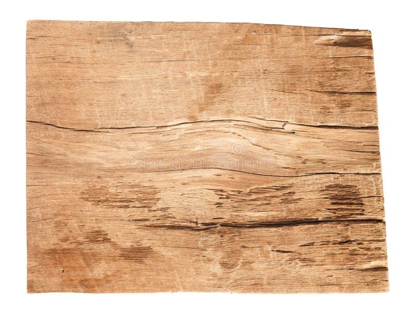 在白色背景隔绝的老木板条纹理 图库摄影