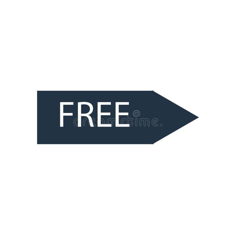 在白色背景隔绝的自由象传染媒介,自由标志 向量例证