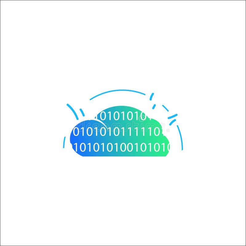 在白色背景隔绝的色的互联网云彩象 主持象的网站 皇族释放例证