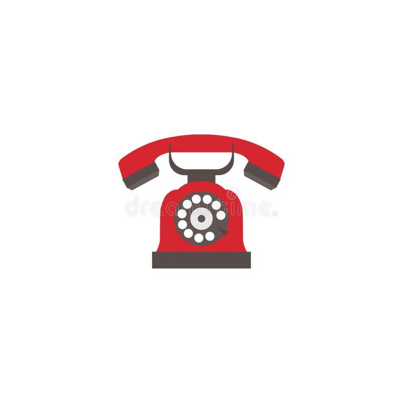 在白色背景隔绝的葡萄酒电话的图象 也corel凹道例证向量 10 eps 皇族释放例证