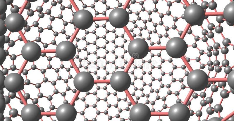 在白色背景隔绝的象Graphene的分子结构 库存例证