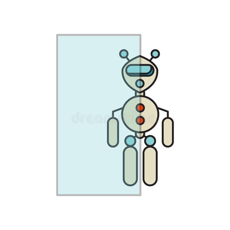 在白色背景隔绝的透明象传染媒介,透明标志,技术标志 库存例证