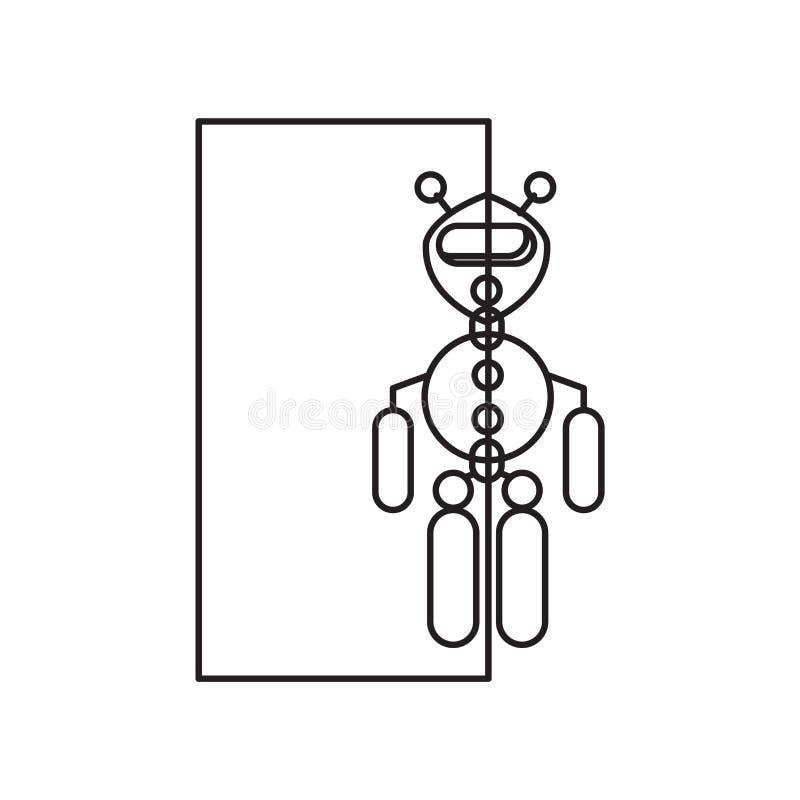 在白色背景隔绝的透明象传染媒介,透明标志 库存例证