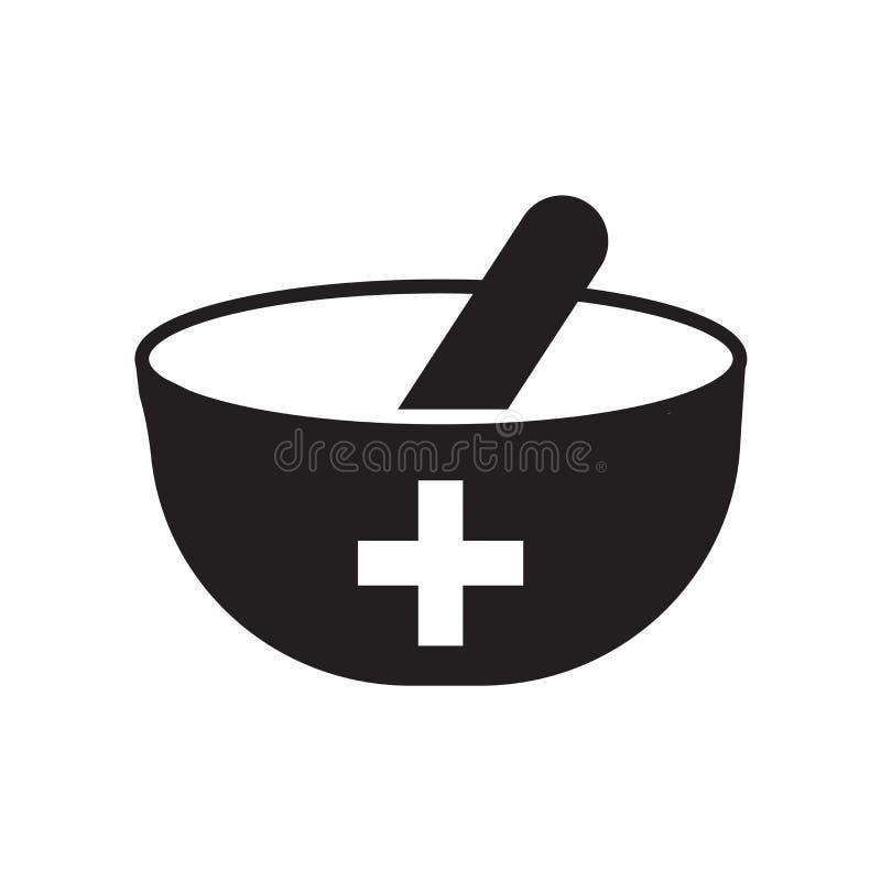在白色背景隔绝的配药象传染媒介,配药标志,医疗健康标志 皇族释放例证