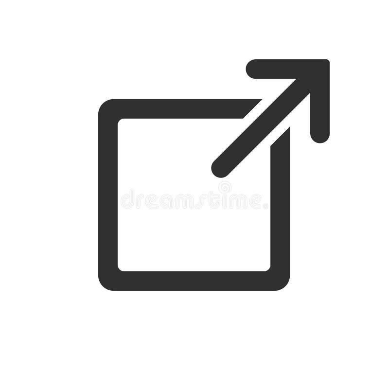 在白色背景隔绝的链接标志 也corel凹道例证向量 库存例证