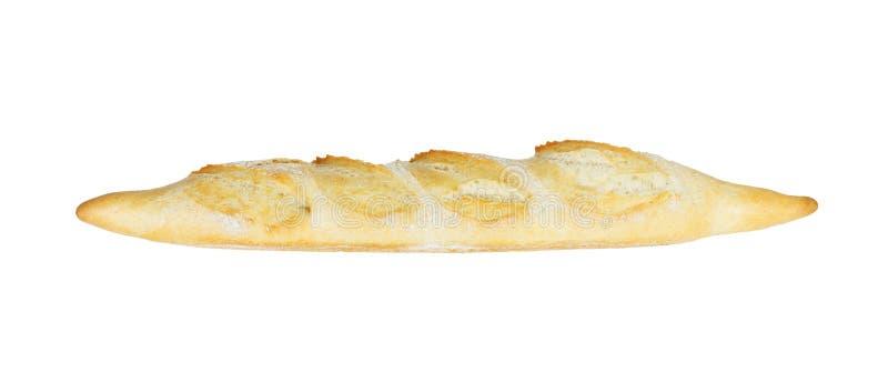 在白色背景隔绝的长方形宝石面包 被烘烤的晚餐 库存照片