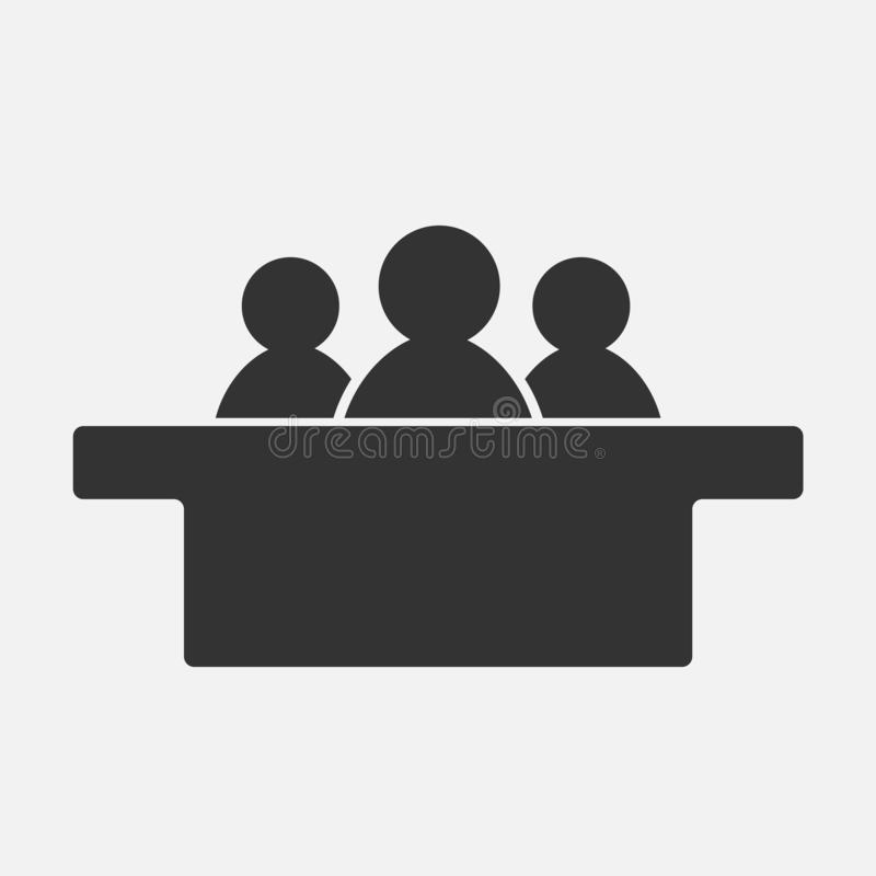 在白色背景隔绝的陪审员象 也corel凹道例证向量 向量例证