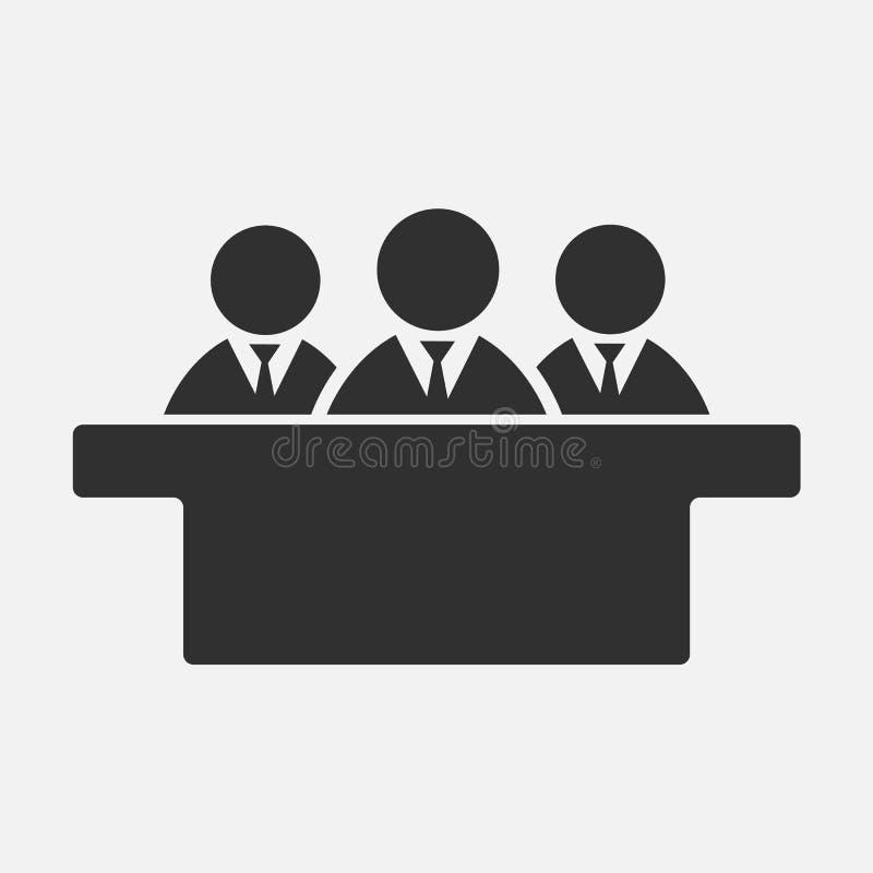 在白色背景隔绝的陪审员象 也corel凹道例证向量 皇族释放例证