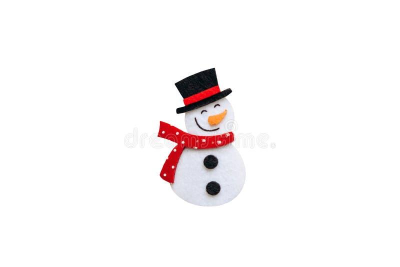 在白色背景隔绝的雪人 免版税库存照片