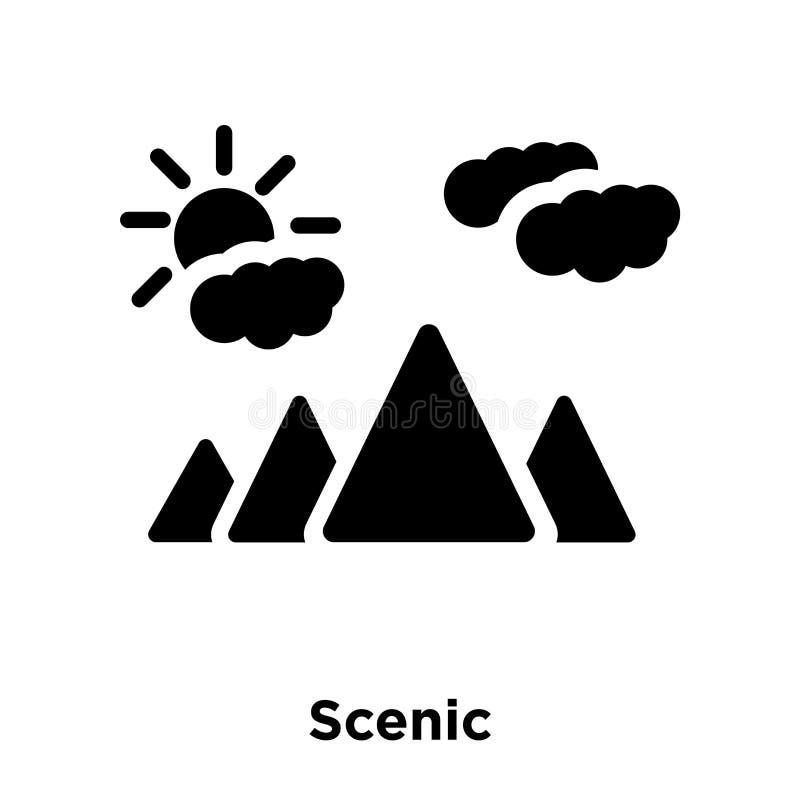 在白色背景隔绝的风景象传染媒介,商标概念  库存例证