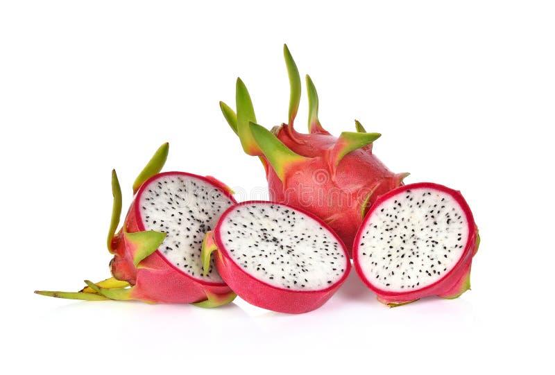 在白色背景隔绝的龙果子 免版税库存照片