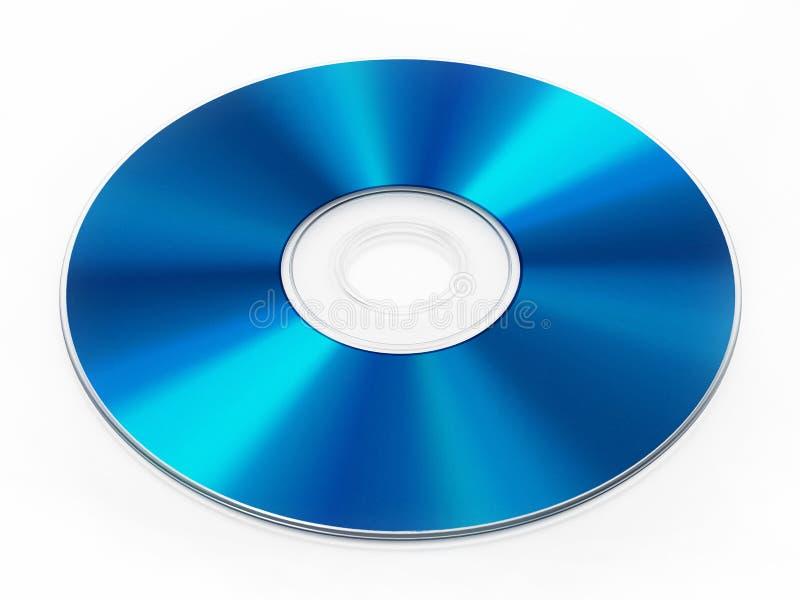 在白色背景隔绝的Blu-ray圆盘 3d例证 免版税图库摄影