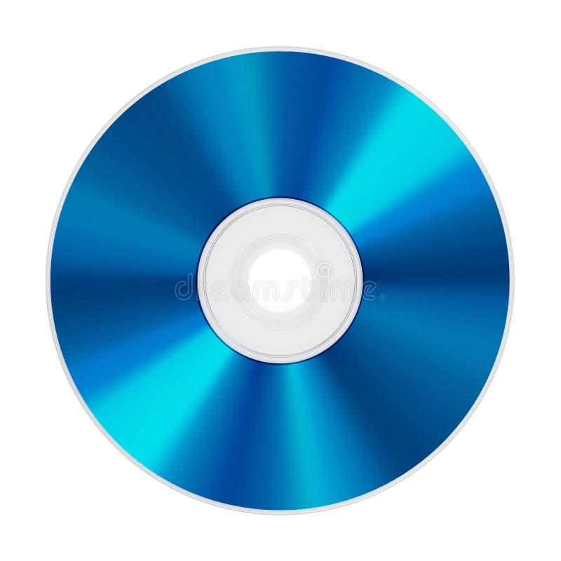 在白色背景隔绝的Blu-ray圆盘 3d例证 免版税库存图片