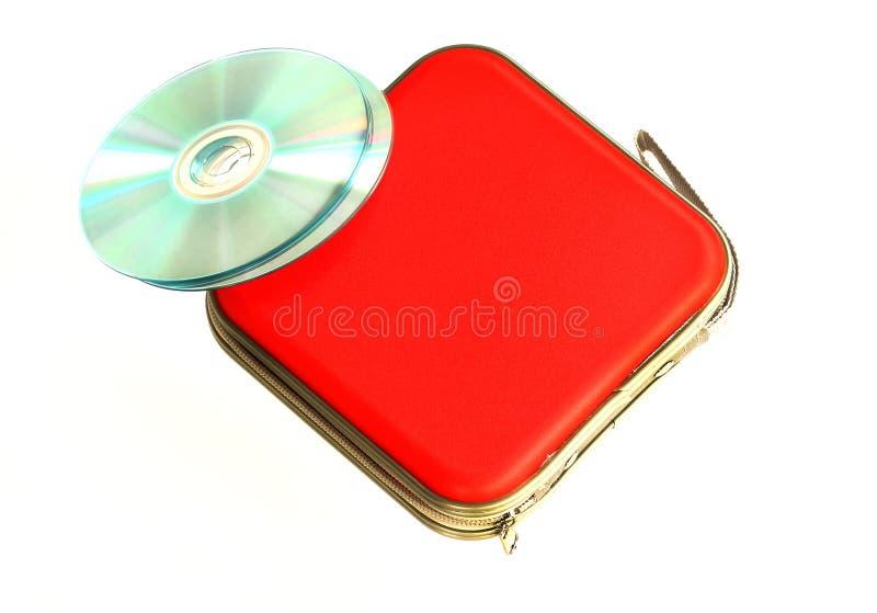 在白色背景隔绝的CD的盒 免版税库存照片
