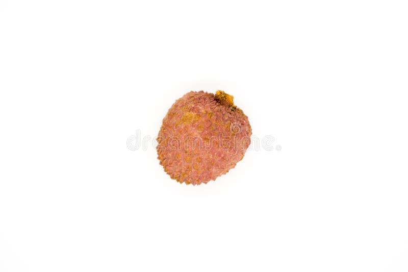 在白色背景隔绝的Lychee果子 免版税库存照片