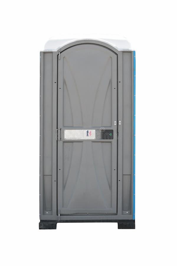 在白色背景隔绝的公共厕所 免版税库存图片
