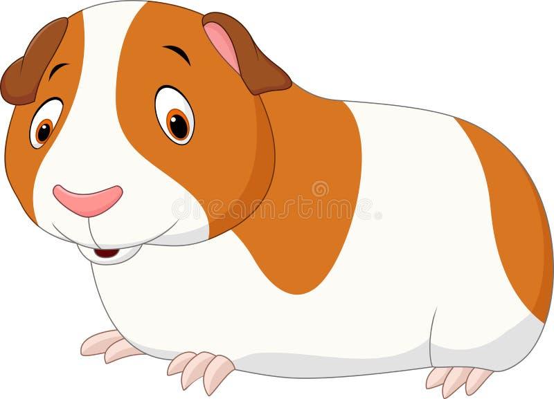 在白色背景隔绝的动画片滑稽的仓鼠 皇族释放例证